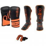 Essimo ''Compact'' Kickboksset - Black/Neon Orange
