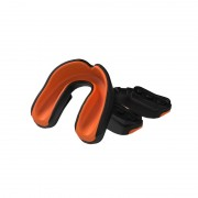 Multisports Gel Mouthguard Black/Orange Adult
