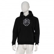 Leo ''The King'' Embroidered Hoodie Black