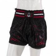 Leo PREDATOR Mesh Kickboxing Short - Black/Red