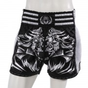 Leo PREDATOR Mesh Kickboxing Short - White/Black