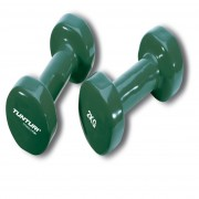 Tunturi Vinyl Dumbbells Pair 2.0kg, Green