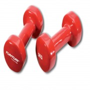 Tunturi Vinyl Dumbbells Pair 3.0kg, Red