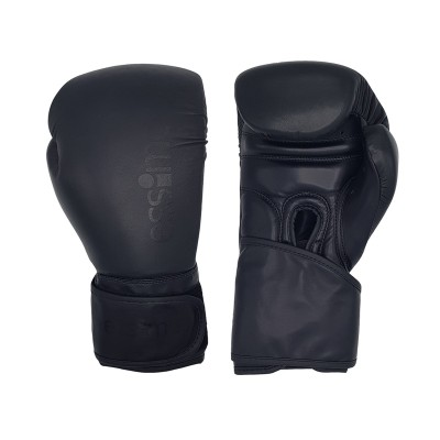Essimo (Kick)boxing Gloves ''Special DDF'' Leather - Black/Black